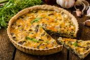 киш с грибами и сыром