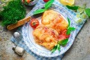 Курица с сыром и помидорами