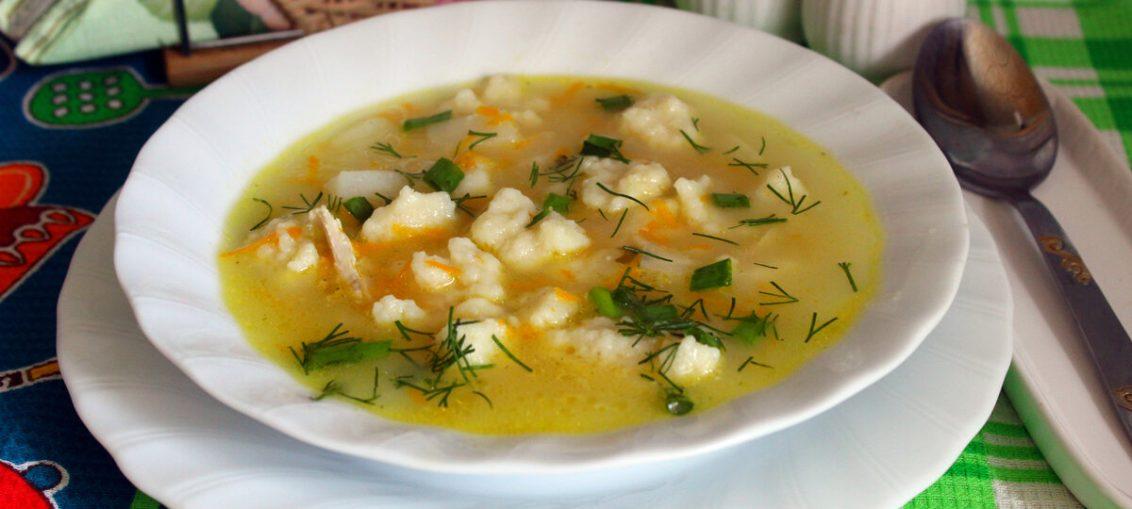 Sup-zavtrak s kletskami